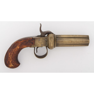 Swedish Type Darling Percussion Pepperbox Pistol