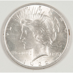 United States Peace Dollar 1922