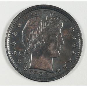 United States Barber Quarter 1892