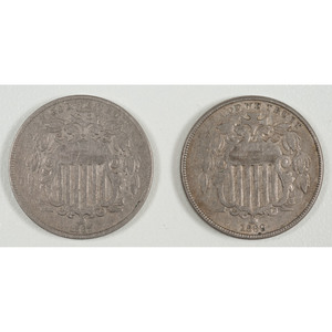 United States Shield Nickels 1867-1869