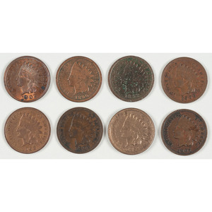 United States Indian Head Pennies 1863-1908