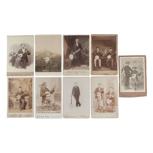 Fine Cabinet Card Collection of Musicians with their Banjos