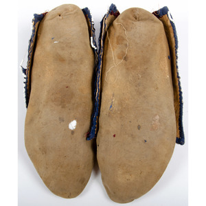 Lenape [Delaware] Beaded Hide Moccasins, From the collection of Art Gerber, Indiana