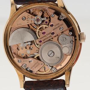 "Hamilton 18 Karat Yellow Gold ""Thin-O-Matic"" Wrist Watch"