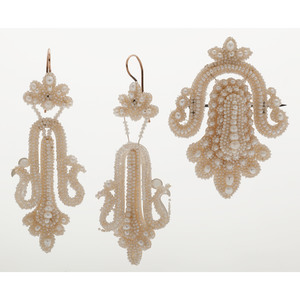 Early Victorian Seed Pearl Suite