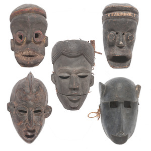 A Collection of African Face Masks