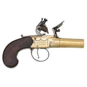 English Flint Boxlock Pistol by P Bond