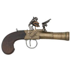 Brass Blunderbuss Flintlock Pistol by H.Nock