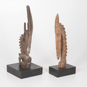 African Bamana Chi Wara Male and Female Headdresses, Sold to benefit the Acquisitions Fund of the Berea College Art Collection
