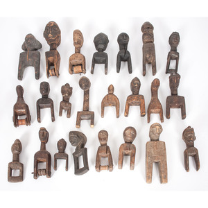 A Collection of African Figural Heddle Pulleys, Sold to benefit the Acquisitions Fund of the Berea College Art Collection