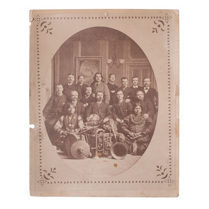Early Photograph of William F. Cody and Buffalo Bill's Wild West Show Performers and Staff