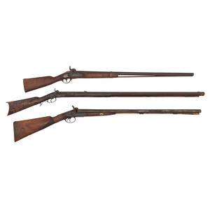 Lot of Three Muzzle Loading Long Arms