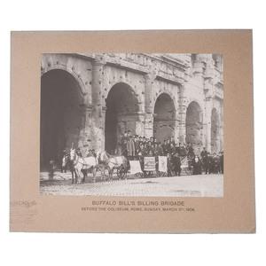 Buffalo Bill's Billing Brigade at the Colosseum in Rome, Italy, 1906