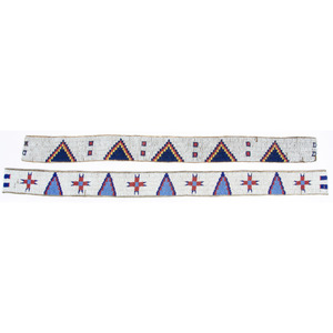 Sioux Beaded Hide Strips, From the Collection of William H. Saunders, M.D. and Putzi Saunders, Ohio
