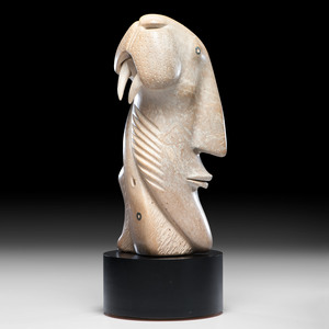 David Ruben Piqtoukun (Inuit, b. 1950) Stone Sculpture, From the Collection of William H. Saunders, M.D. and Putzi Saunders, Ohio