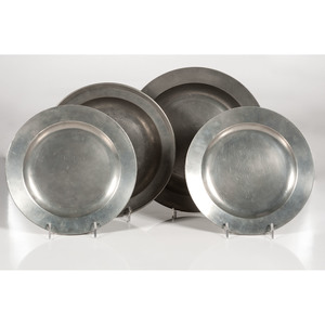 Pewter Plates and Bowls