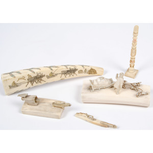Collection of Alaskan Eskimo Walrus Ivory Carvings, From the Collection of William H. Saunders, M.D. and Putzi Saunders, Ohio