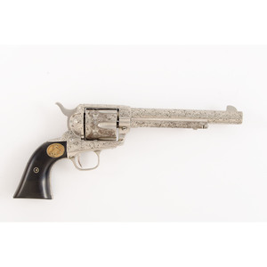 ** Cased Engraved Colt Single Action Army Revolver