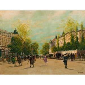 Antal Berkes (Hungarian, 1874-1938) Oil on Canvas