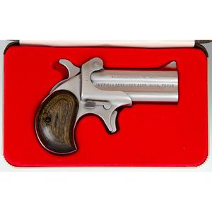 ** Cased American Derringer Stainless Steel Derringer