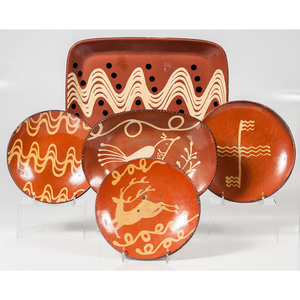 Contemporary Redware Plates and Platters