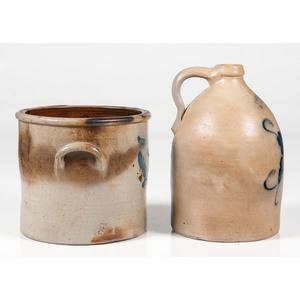 Cobalt-Decorated Stoneware