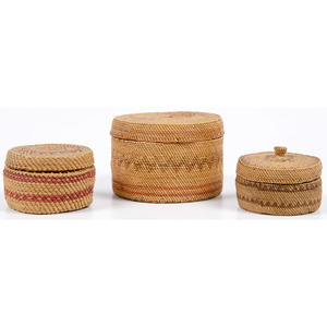 Nuu-chah-nulth / Makah Trinket Baskets, From the Collection of William H. Saunders, M.D. and Putzi Saunders, Ohio