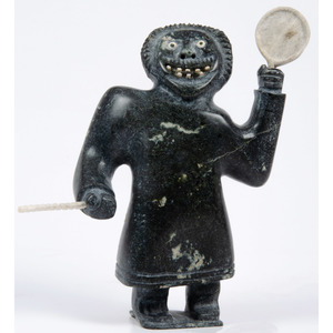 Inuit Soapstone Carving of a Dancer, From the Collection of William H. Saunders, M.D. and Putzi Saunders, Ohio