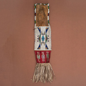 Sioux Beaded Hide Tobacco Bag, From the Collection of William H. Saunders, M.D. and Putzi Saunders, Ohio