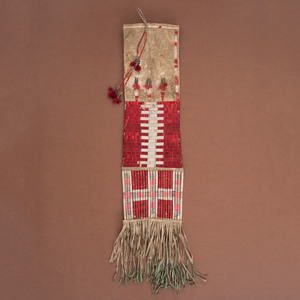 Sioux Quilled Hide Tobacco Bag, From the Collection of William H. Saunders, M.D. and Putzi Saunders, Ohio