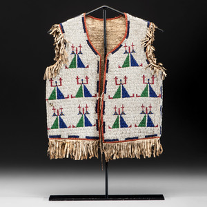 Sioux Child's Beaded Hide Vest, From the Collection of William H. Saunders, M.D. and Putzi Saunders, Ohio