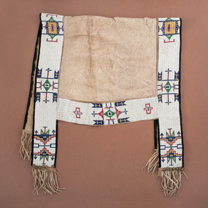 Sioux Beaded Hide Saddle Blanket, From the Collection of William H. Saunders, M.D. and Putzi Saunders, Ohio