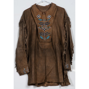 Cree Beaded Smoke-Tanned Hide Shirt, From the Collection of William H. Saunders, M.D. and Putzi Saunders, Ohio