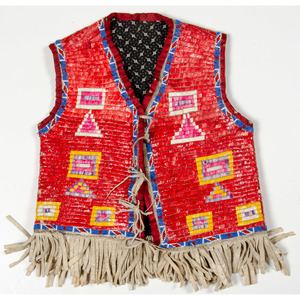 Sioux Child's Beaded and Quilled Hide Vest, From the Collection of William H. Saunders, M.D. and Putzi Saunders, Ohio