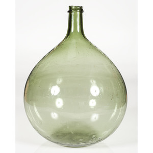 Olive Glass Demijohn Bottle