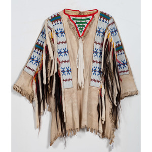 Sioux Beaded Hide Warshirt, From the Collection of William H. Saunders, M.D. and Putzi Saunders, Ohio