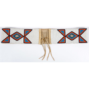 Southern Plains Beaded Canvas Belt, From the Collection of William H. Saunders, M.D. and Putzi Saunders, Ohio