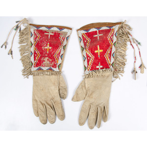 Sioux Beaded and Quilled Gauntlets, From the Collection of William H. Saunders, M.D. and Putzi Saunders, Ohio