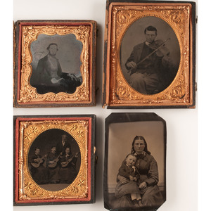 Ambrotypes of Musicians with Their Instruments, Plus