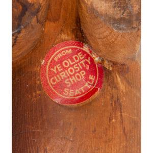 Northwest Coast Carved Wood Walrus from Ye Olde Curiosity Shop