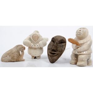 Alaskan Eskimo Carved Whalebone Sculptures, From the Collection of William H. Saunders, M.D. and Putzi Saunders, Ohio