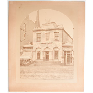 Mammoth Plate Albumen Photograph of the Phoenix Bank and other Hartford, Connecticut Businesses