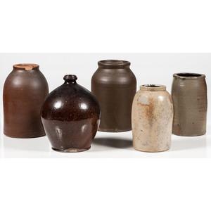 Stoneware Jug and Jars