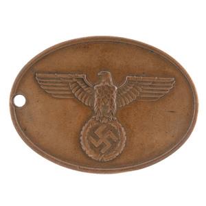 WWII Third Reich Police Warrant Disk - Staatliche Kriminalpolizei