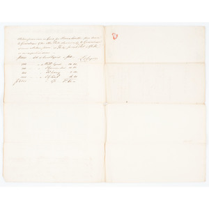 [Americana - Manuscript - Maritime] 1803 Clement Biddle Partially Printed Document Signed, Plus Early Shipping Documents