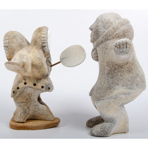 Elliot Olanna (Inuit, 1926-2008) Whalebone Sculpture, PLUS, From the Collection of William H. Saunders, M.D. and Putzi Saunders, Ohio