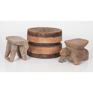 African Carved Stools, Sold to benefit the Acquisitions Fund of the Berea College Art Collection