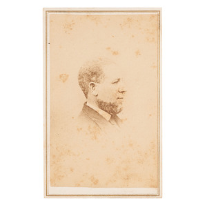 Hiram Rhodes Revels, First African American US Senator, Unpublished War-Date CDV