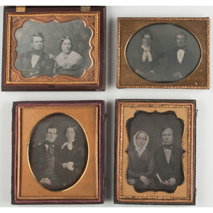 Four Quarter Plate Daguerreotype Portraits of Lovely Couples