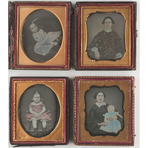 Striking Collection of Daguerreotypes Featuring Hand Tinting
